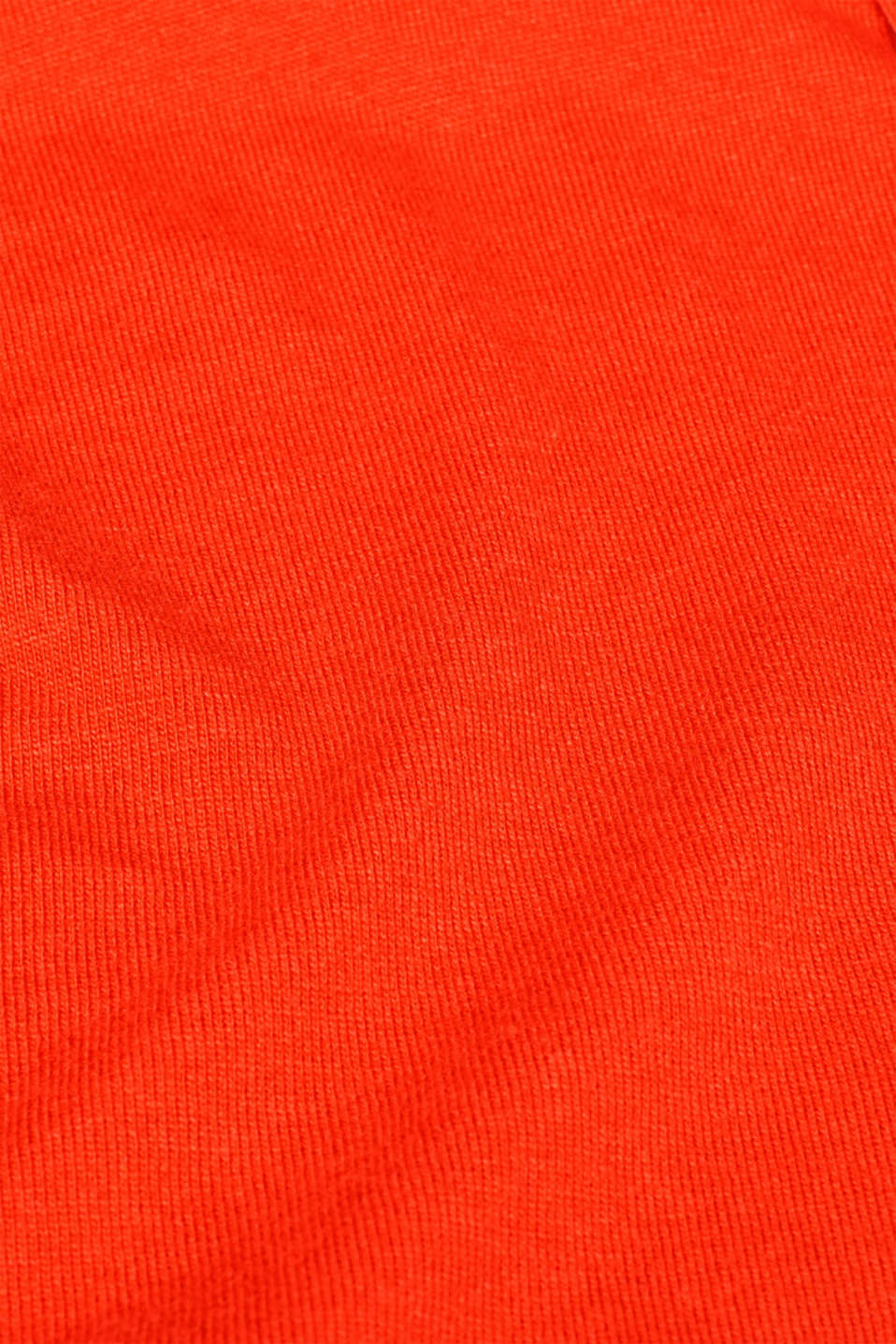 Fine knit hoodie with cashmere, ORANGE RED, detail image number 5