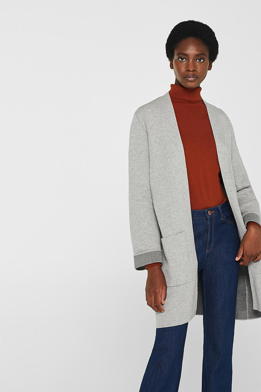 Double-faced knit coat made of stretch cotton
