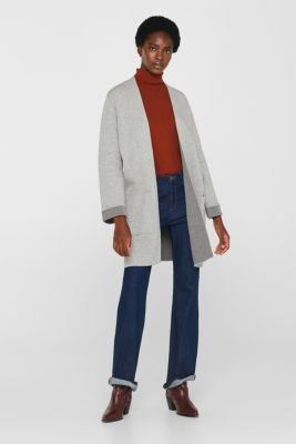 Double-faced knit coat made of stretch cotton, LIGHT GREY 4, detail