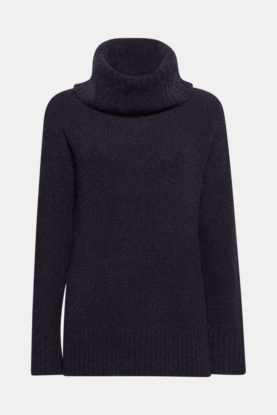 Sweaters, NAVY, detail image number 8