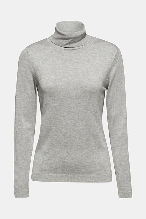 Fine knit polo neck jumper