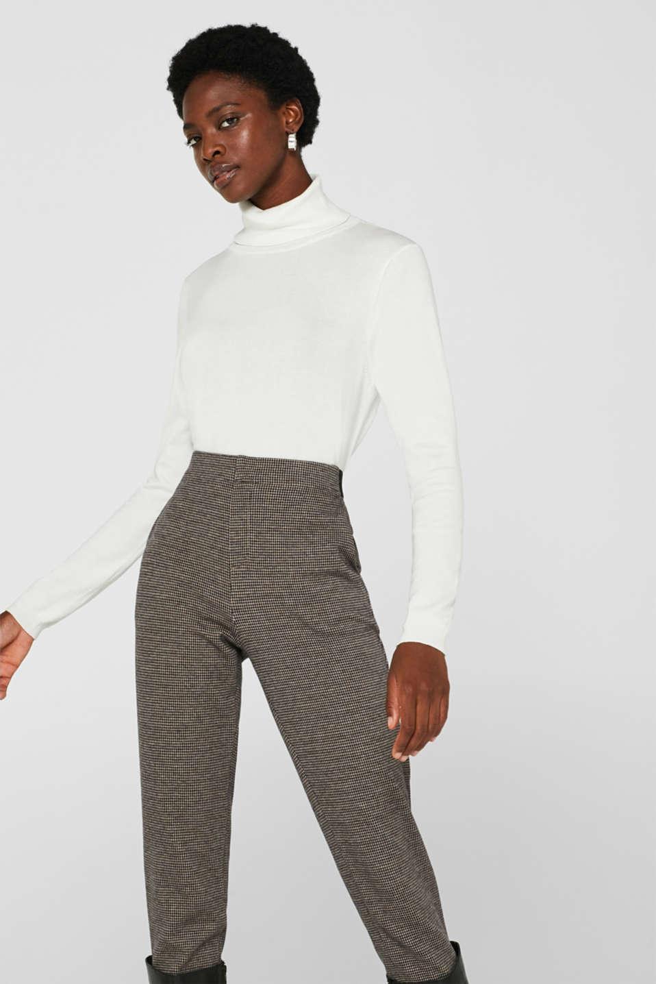 Fine knit polo neck jumper