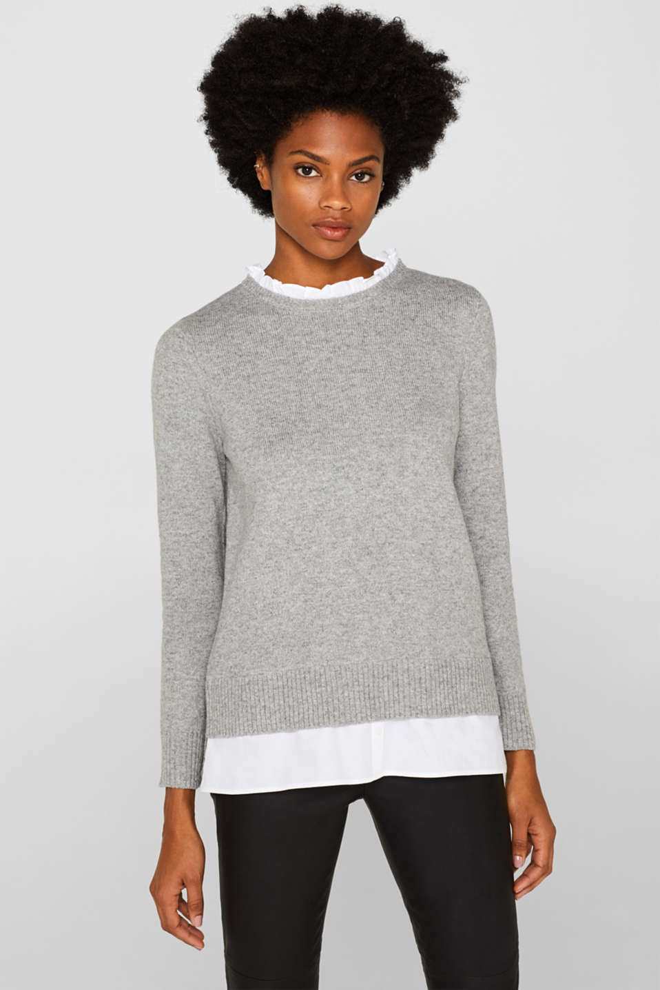 Esprit - With wool: layered jumper