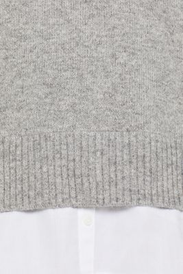 With wool: layered jumper, LIGHT GREY 5, detail