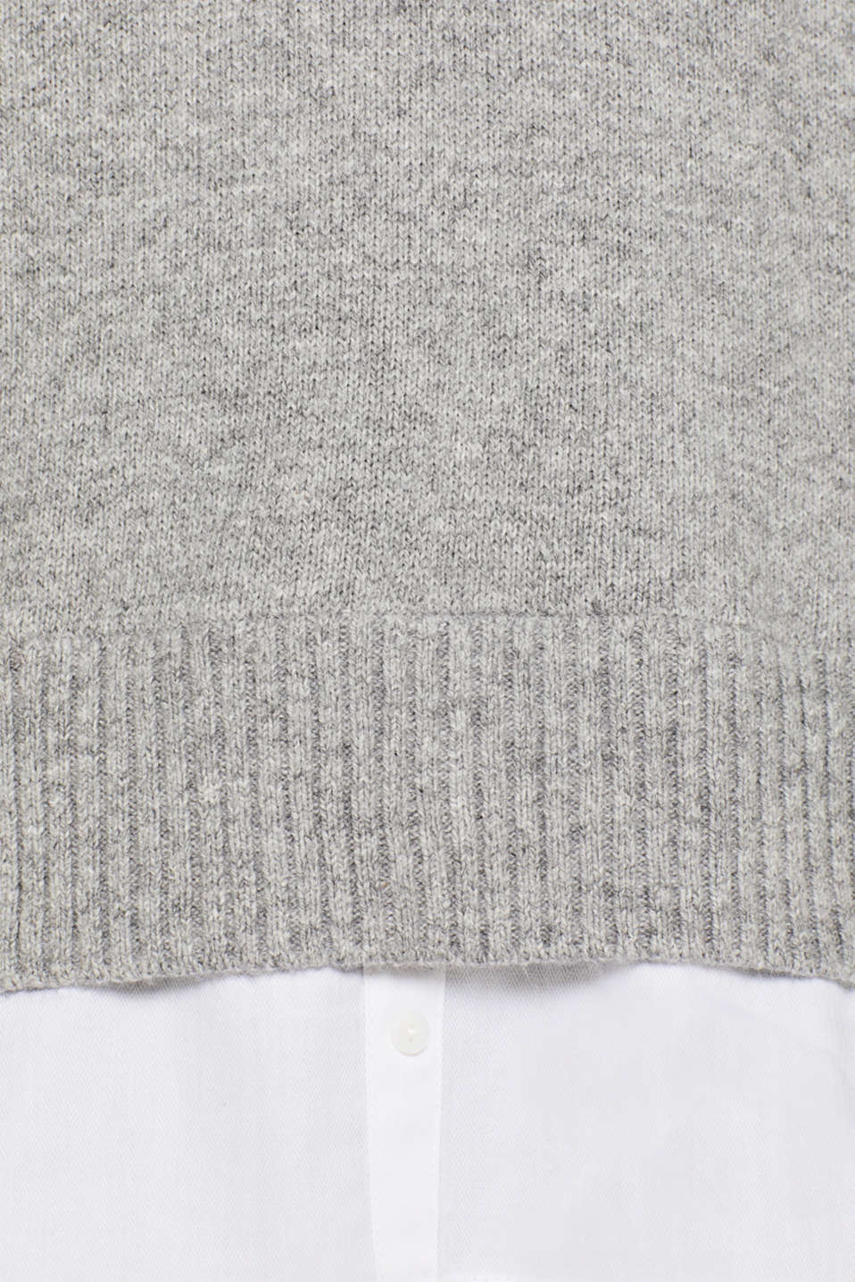 With wool: layered jumper, LIGHT GREY 5, detail image number 4