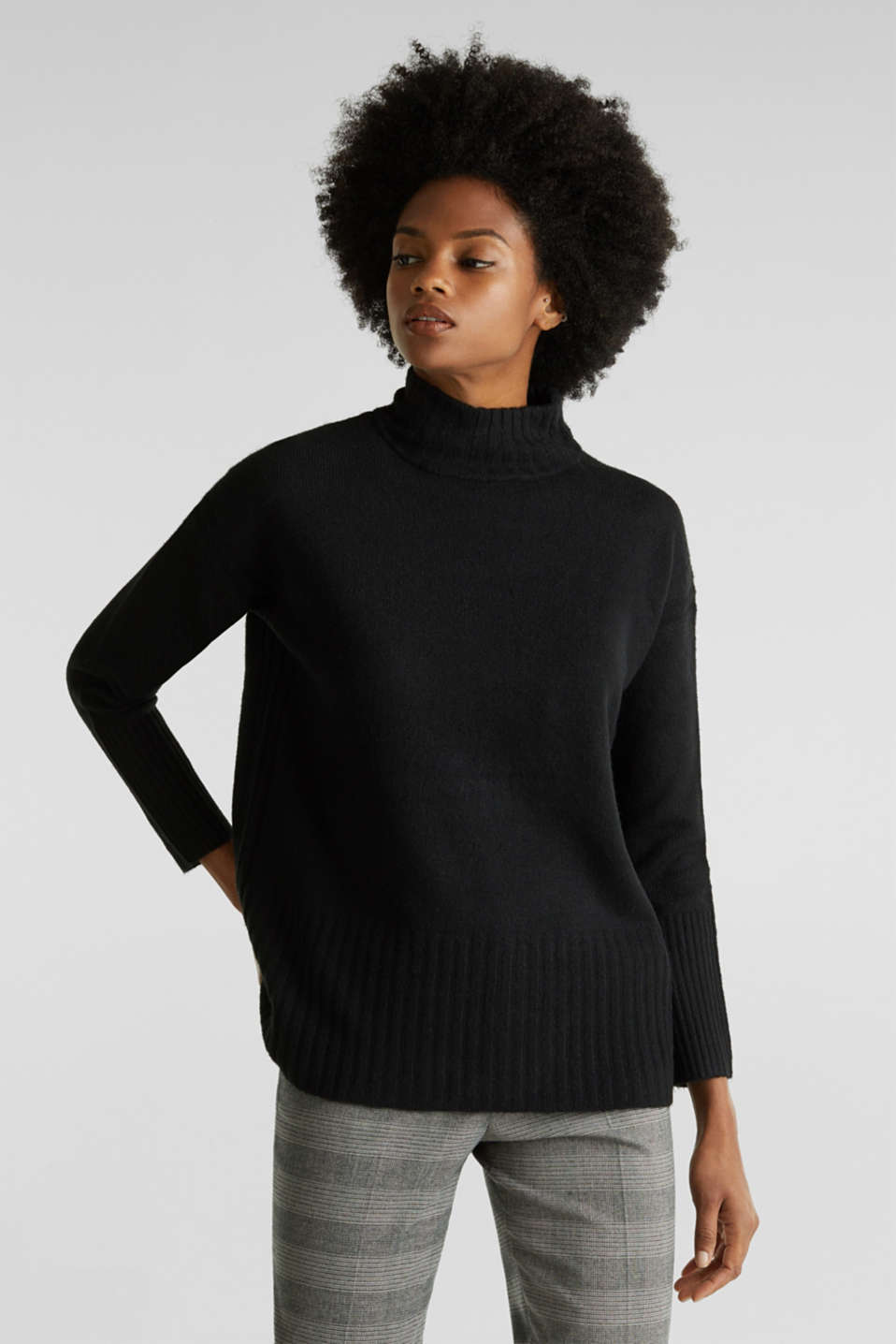 Sweaters, BLACK, detail image number 0