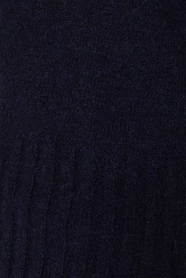 With wool: jumper with ribbed details, NAVY, detail