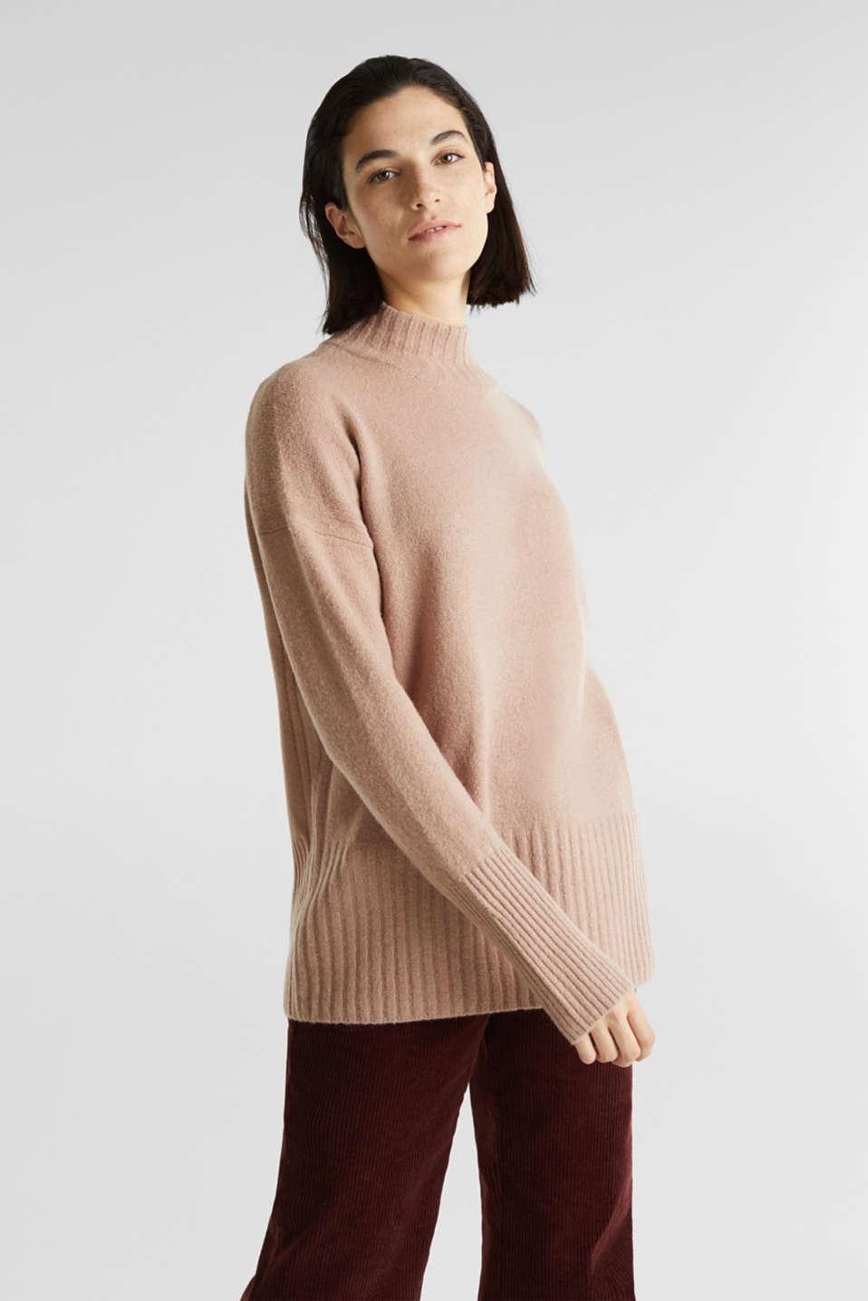 Esprit Mit Wolle: Pullover mit Ripp Details im Online Shop