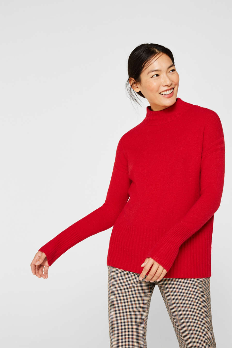 Sweaters, RED, detail image number 0