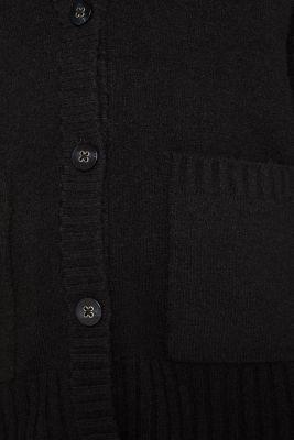 Wool blend: melange cardigan