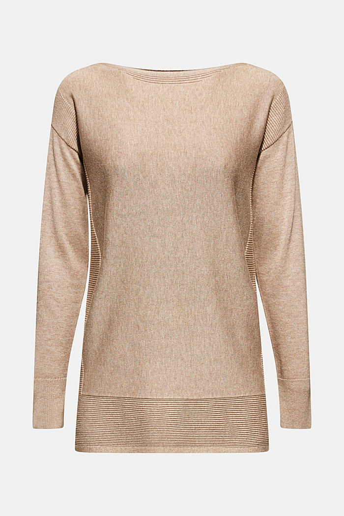 Pullover con cotone biologico, TAUPE, detail image number 0