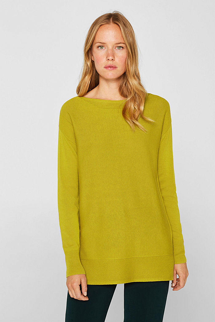 Jumper with organic cotton, PISTACHIO GREEN, detail image number 0