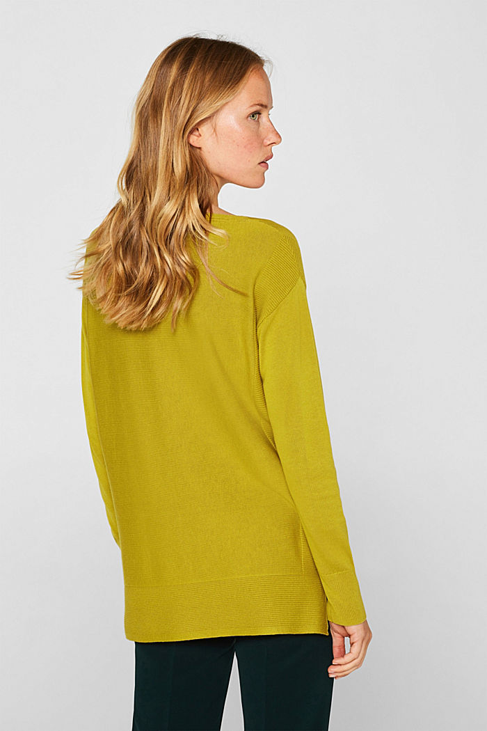 Jumper with organic cotton, PISTACHIO GREEN, detail image number 3