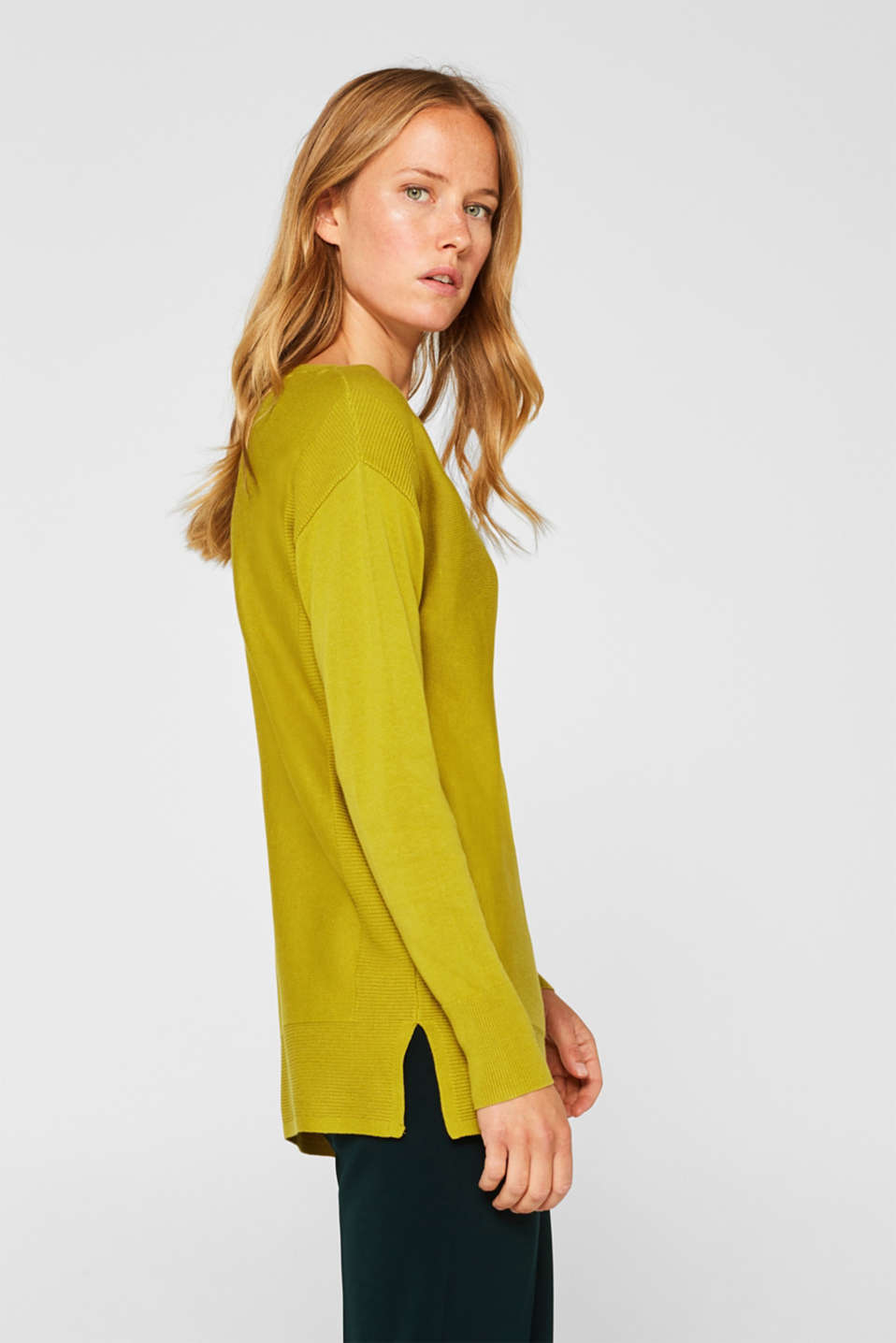 Jumper with organic cotton, PISTACHIO GREEN, detail image number 5