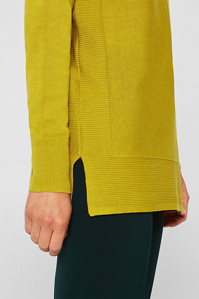 Jumper with organic cotton, PISTACHIO GREEN, detail image number 2
