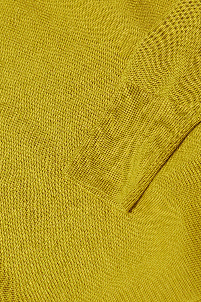 Jumper with organic cotton, PISTACHIO GREEN, detail image number 4