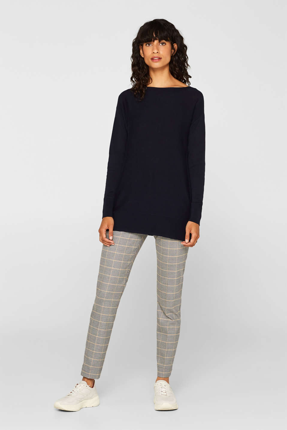 Jumper with organic cotton, NAVY, detail image number 1