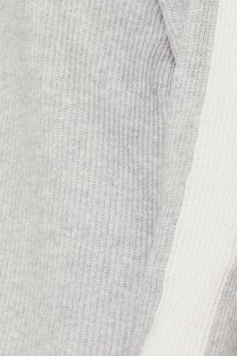 Turtleneck jumper with contrasts, LIGHT GREY 5, detail