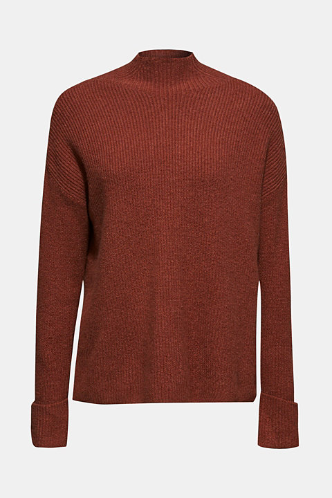 Turtleneck jumper with contrasts