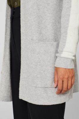 Open cardigan with stretch, LIGHT GREY 5, detail