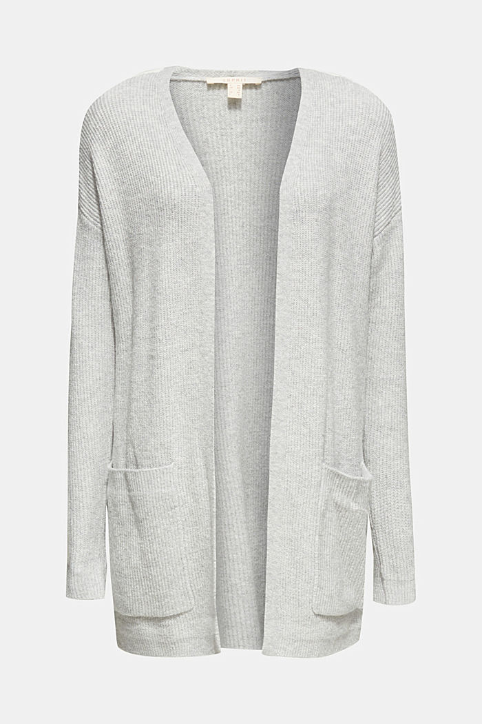 Open cardigan with stretch, LIGHT GREY, detail image number 6