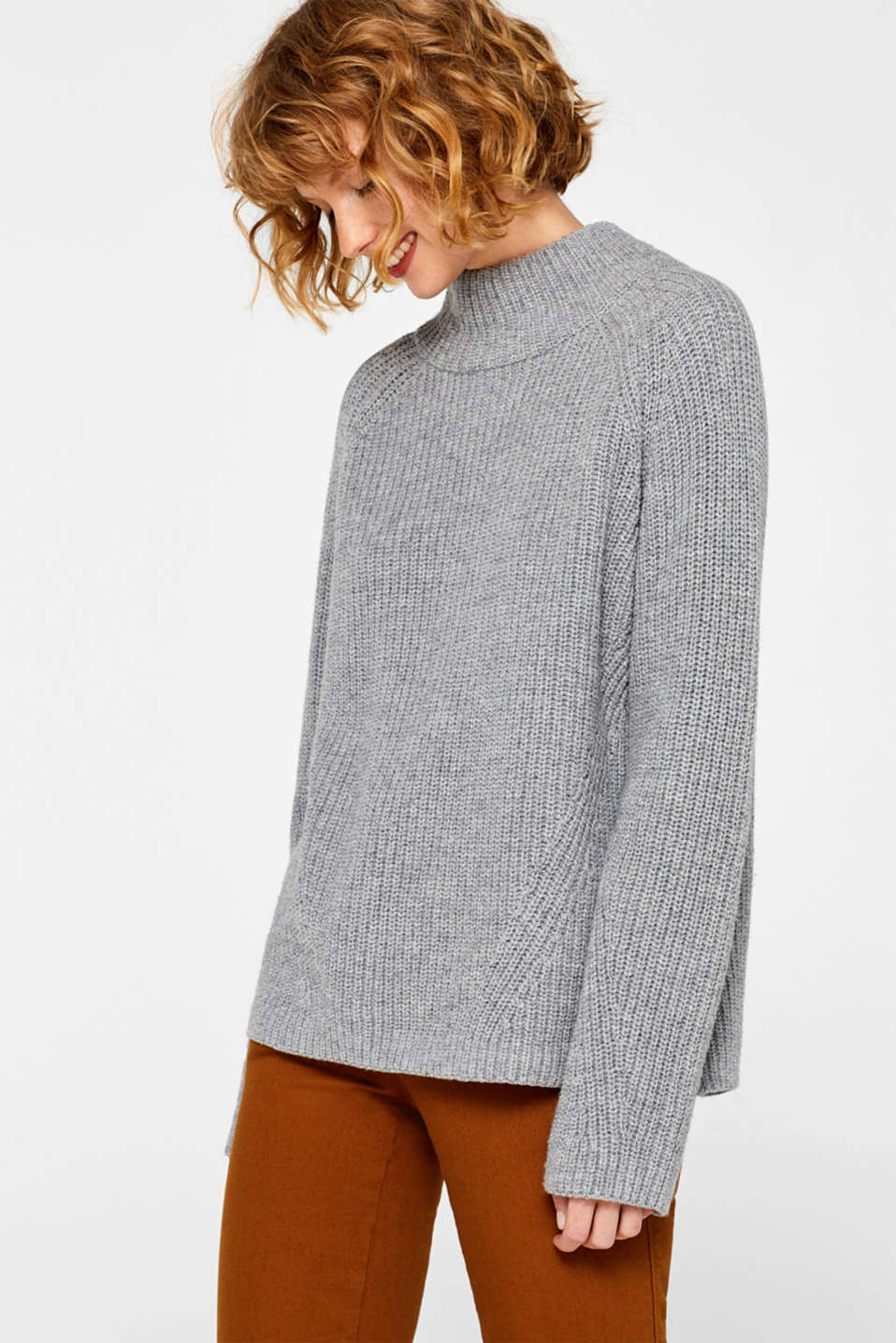 Sweaters, LIGHT GREY 5, detail image number 0