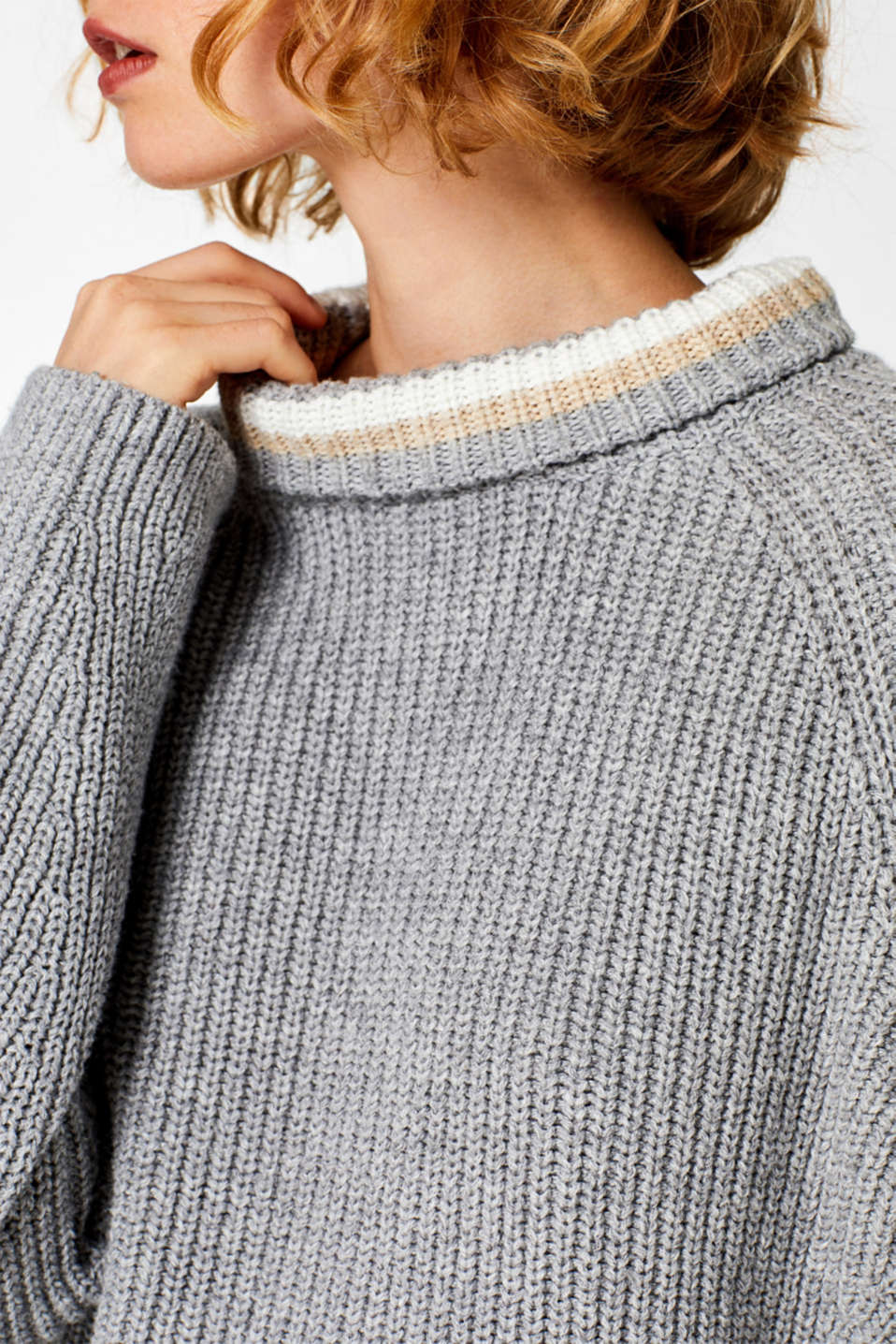 Sweaters, LIGHT GREY 5, detail image number 2