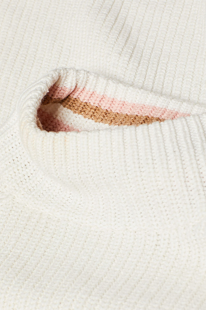 Wool blend: Chunky knit jumper, OFF WHITE, detail image number 4