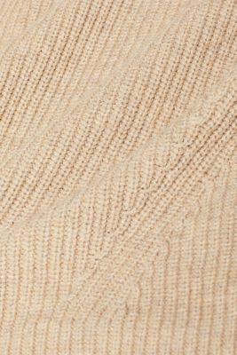 Wool blend: Chunky knit jumper, LIGHT BEIGE, detail