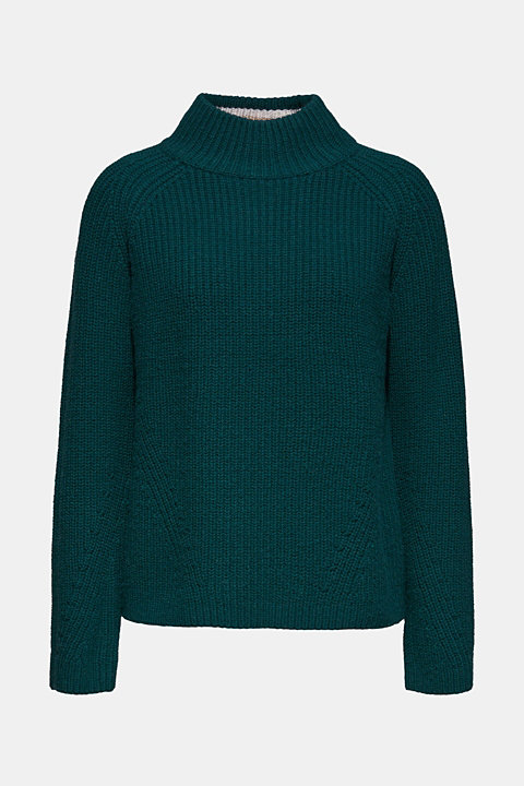Wool blend: Chunky knit jumper