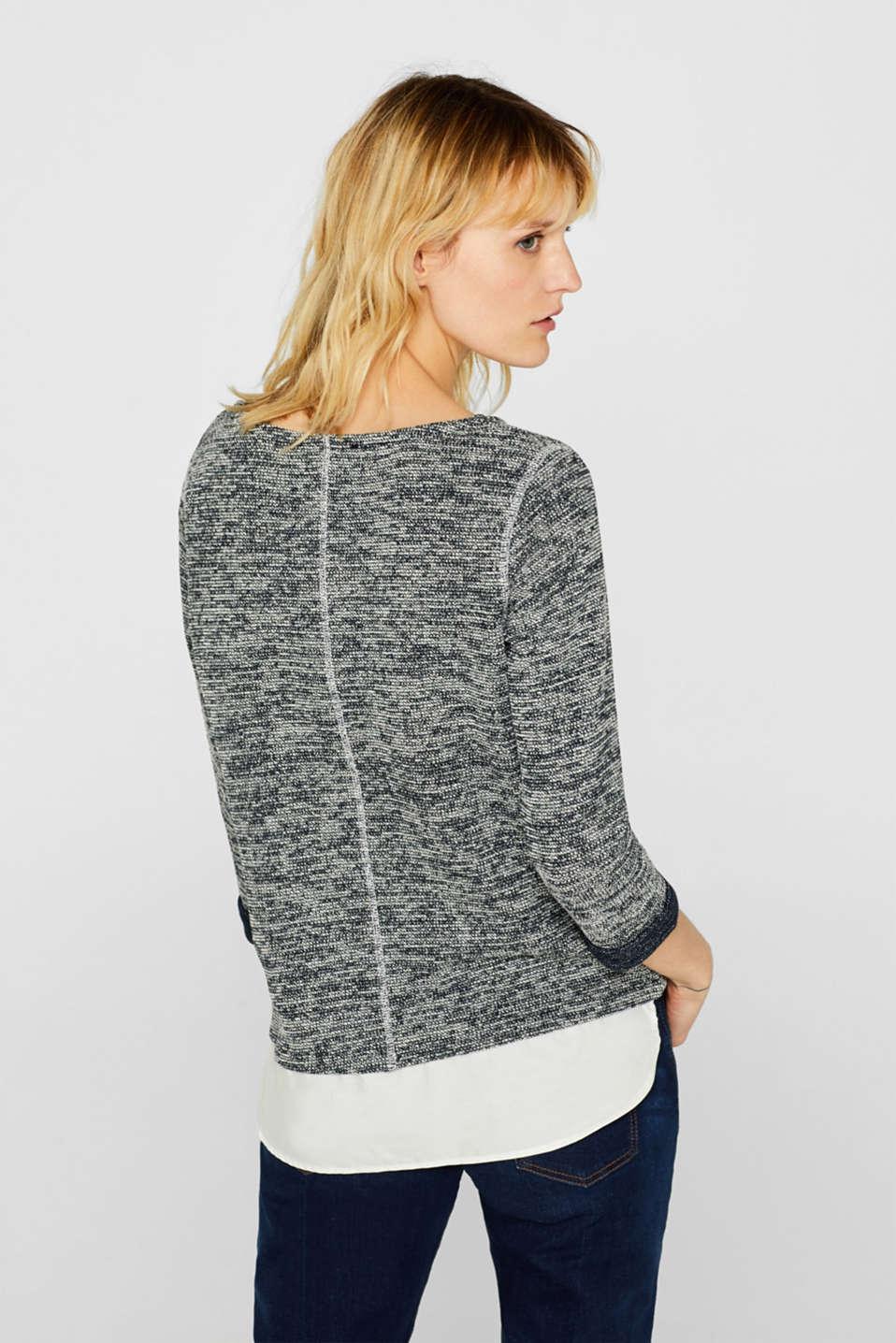 Sweatshirts, NAVY, detail image number 3