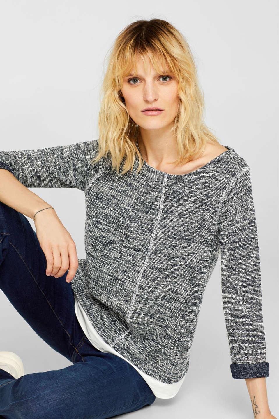 Sweatshirts, NAVY, detail image number 6