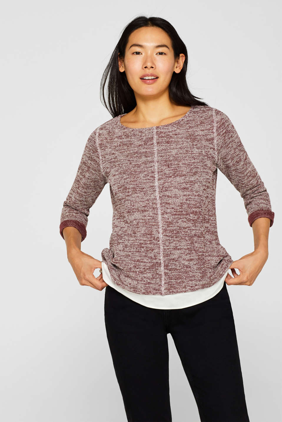 Esprit - Sweatshirt in a layered look