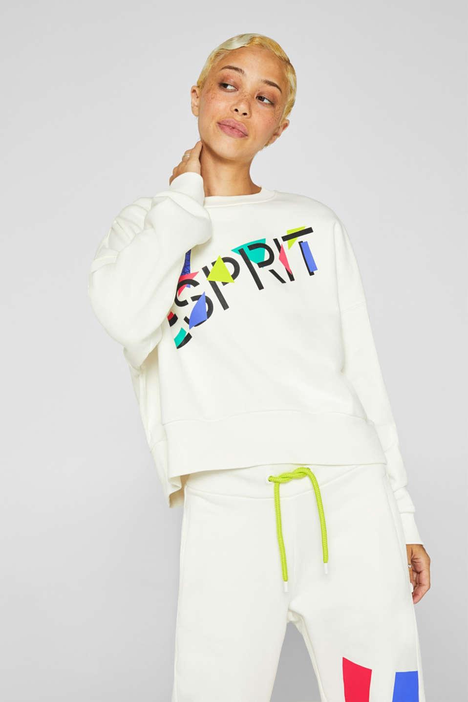 #throwback logo sweatshirt, 100% cotton, OFF WHITE, detail image number 0
