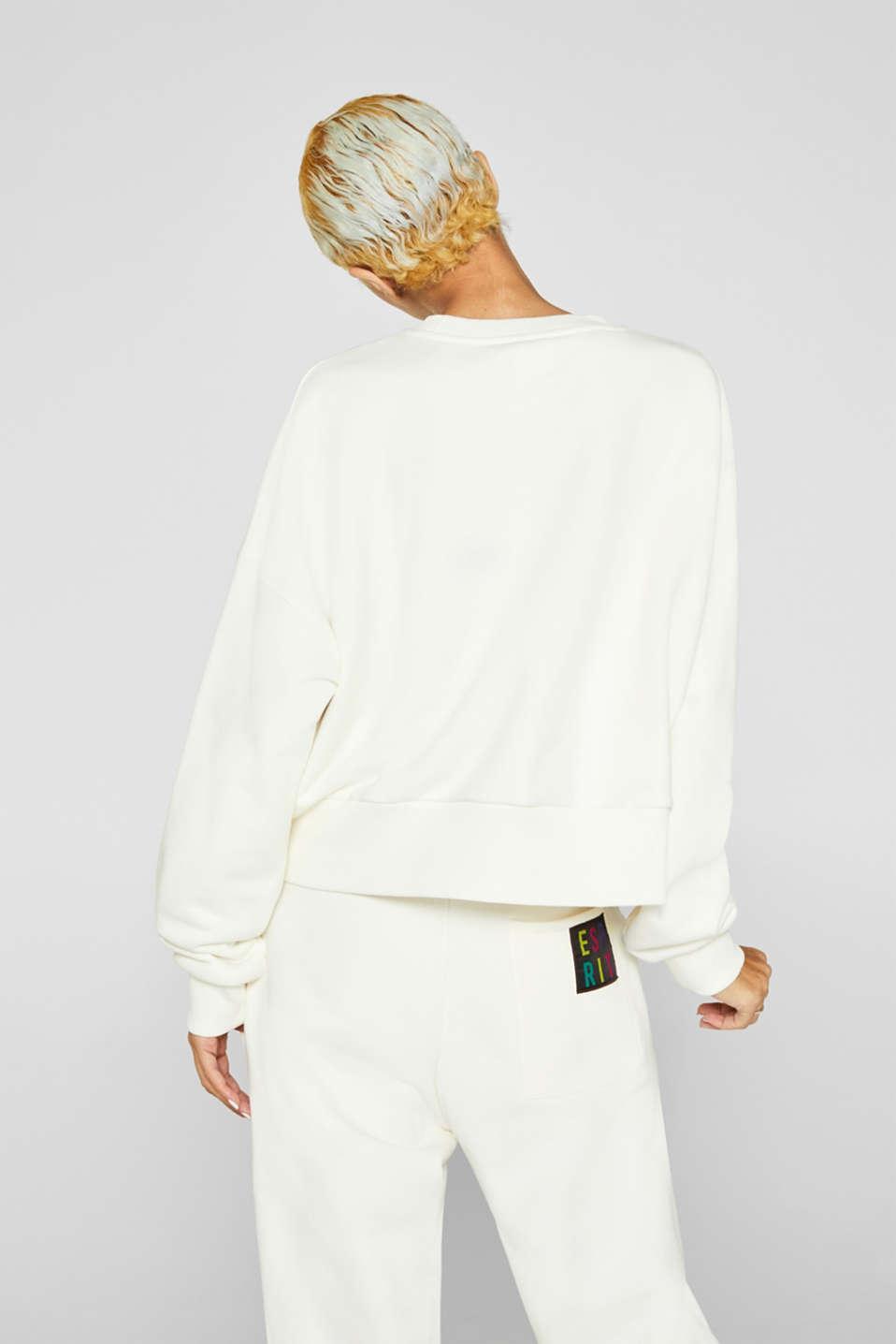 #throwback logo sweatshirt, 100% cotton, OFF WHITE, detail image number 2