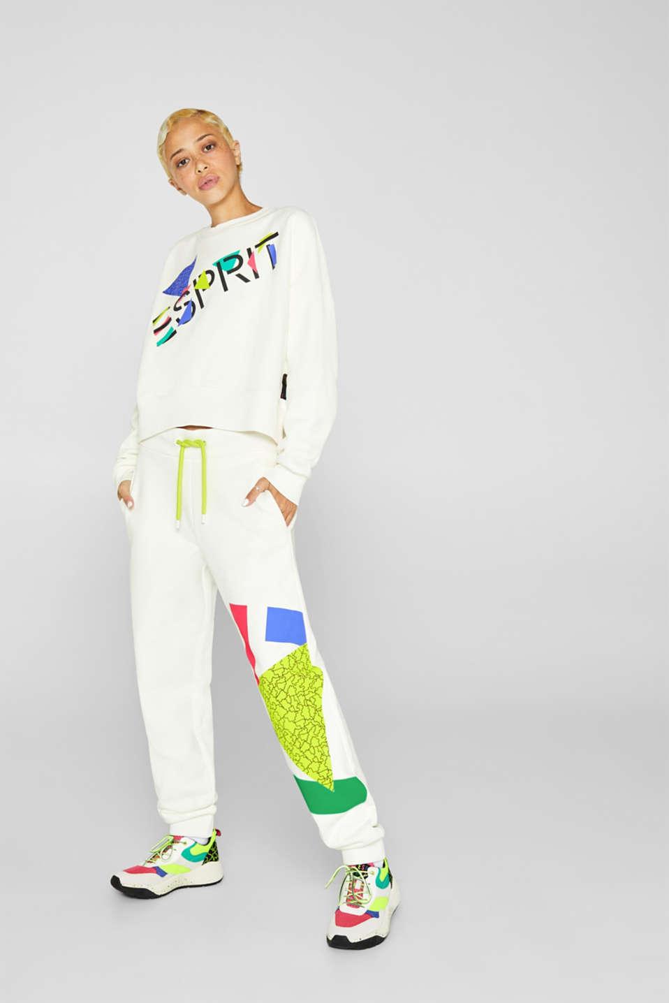 #throwback logo sweatshirt, 100% cotton, OFF WHITE, detail image number 1