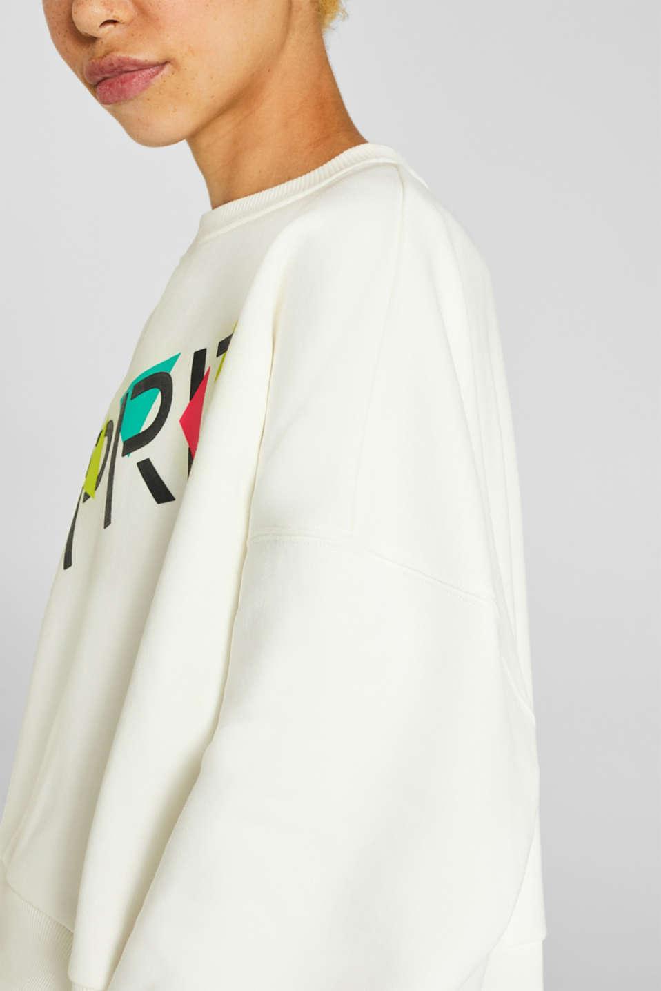 #throwback logo sweatshirt, 100% cotton, OFF WHITE, detail image number 3