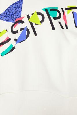 #throwback logo sweatshirt, 100% cotton, OFF WHITE, detail