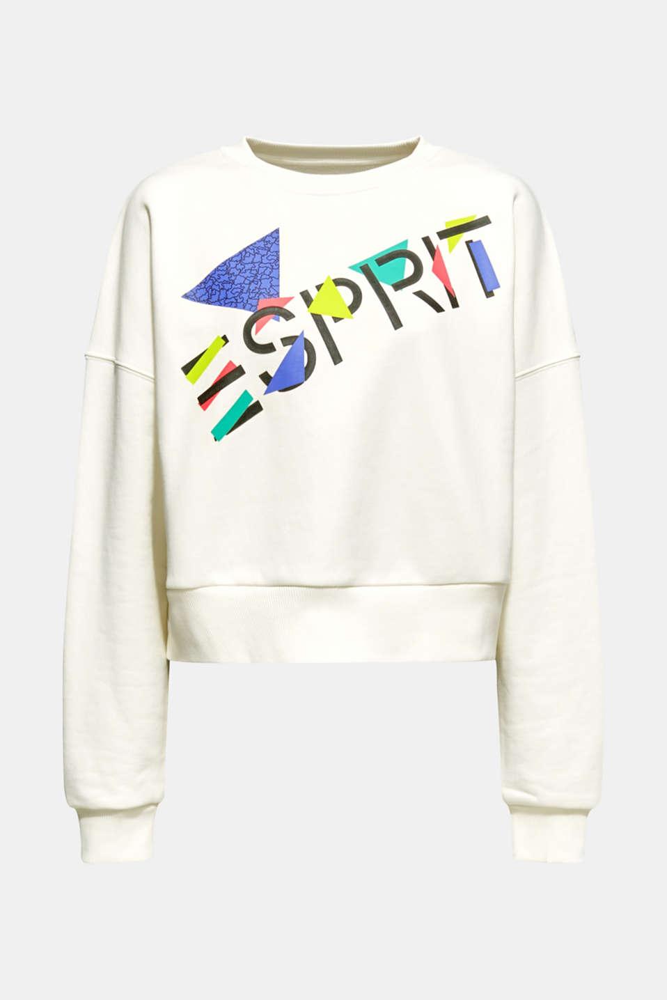 #throwback logo sweatshirt, 100% cotton, OFF WHITE, detail image number 6
