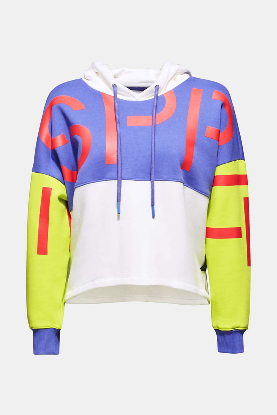 #throwback logo colour block hoodie, 100% cotton, BRIGHT YELLOW, detail image number 6