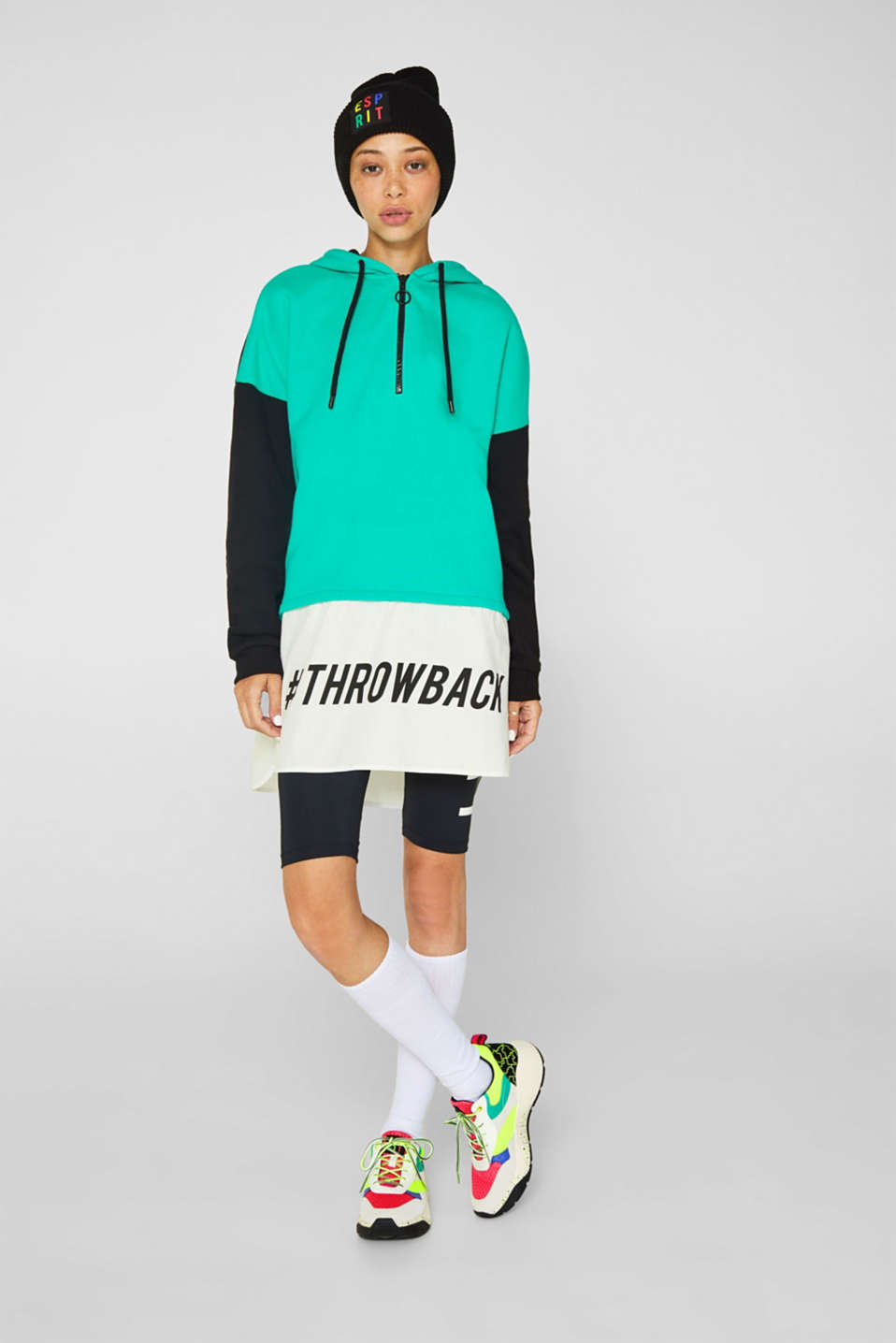 Esprit - #throwback Sweat-shirt color block, 100 % coton