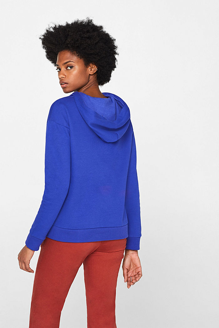 Hooded sweatshirt with a logo print, BRIGHT BLUE, detail image number 3