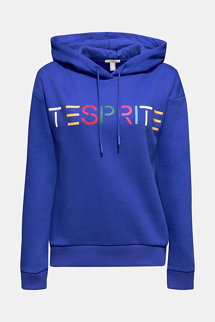 Hooded sweatshirt with a logo print, BRIGHT BLUE, detail image number 6