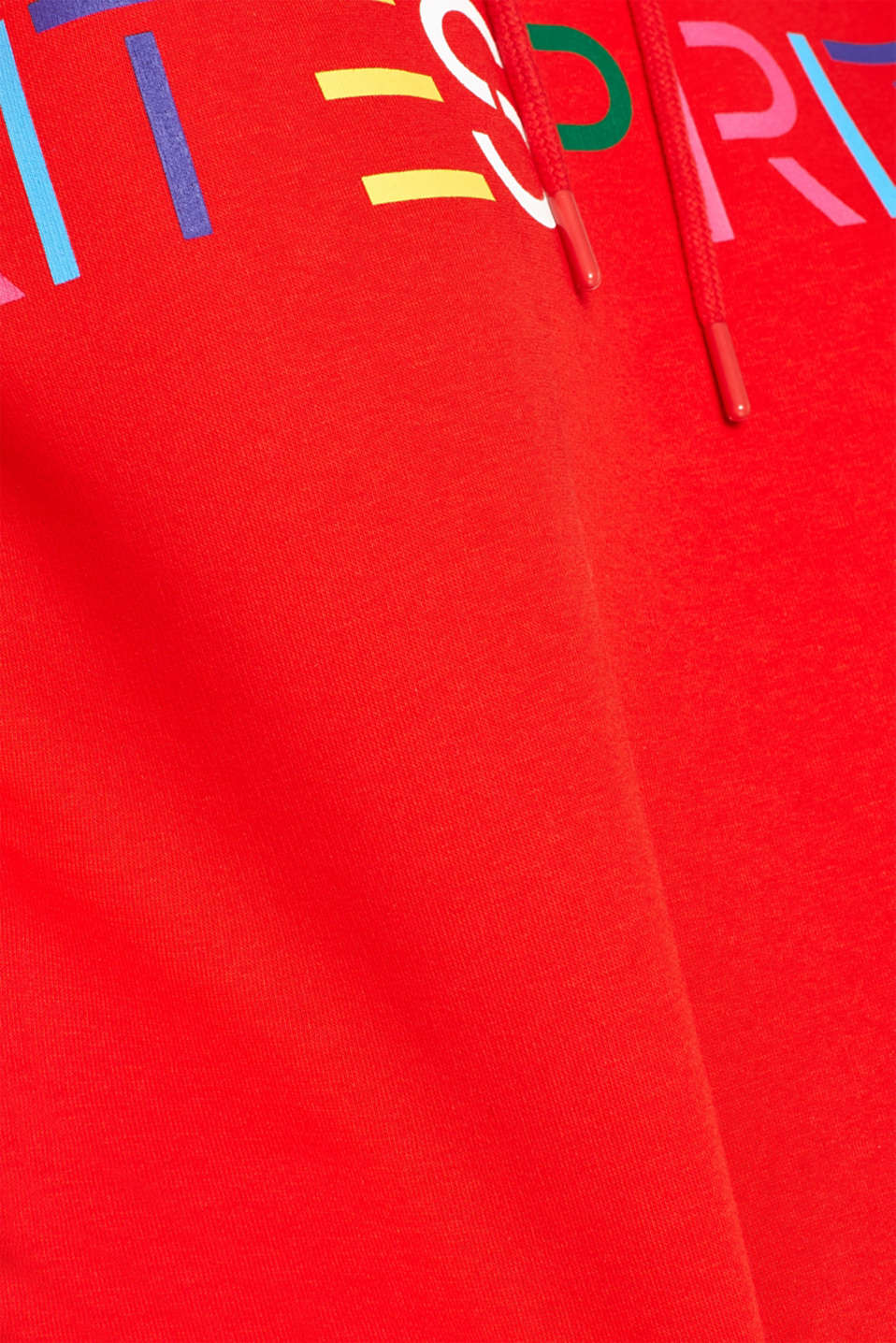 Hooded sweatshirt with a logo print, RED, detail image number 4