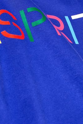 Sweatshirt with a logo print, BRIGHT BLUE, detail