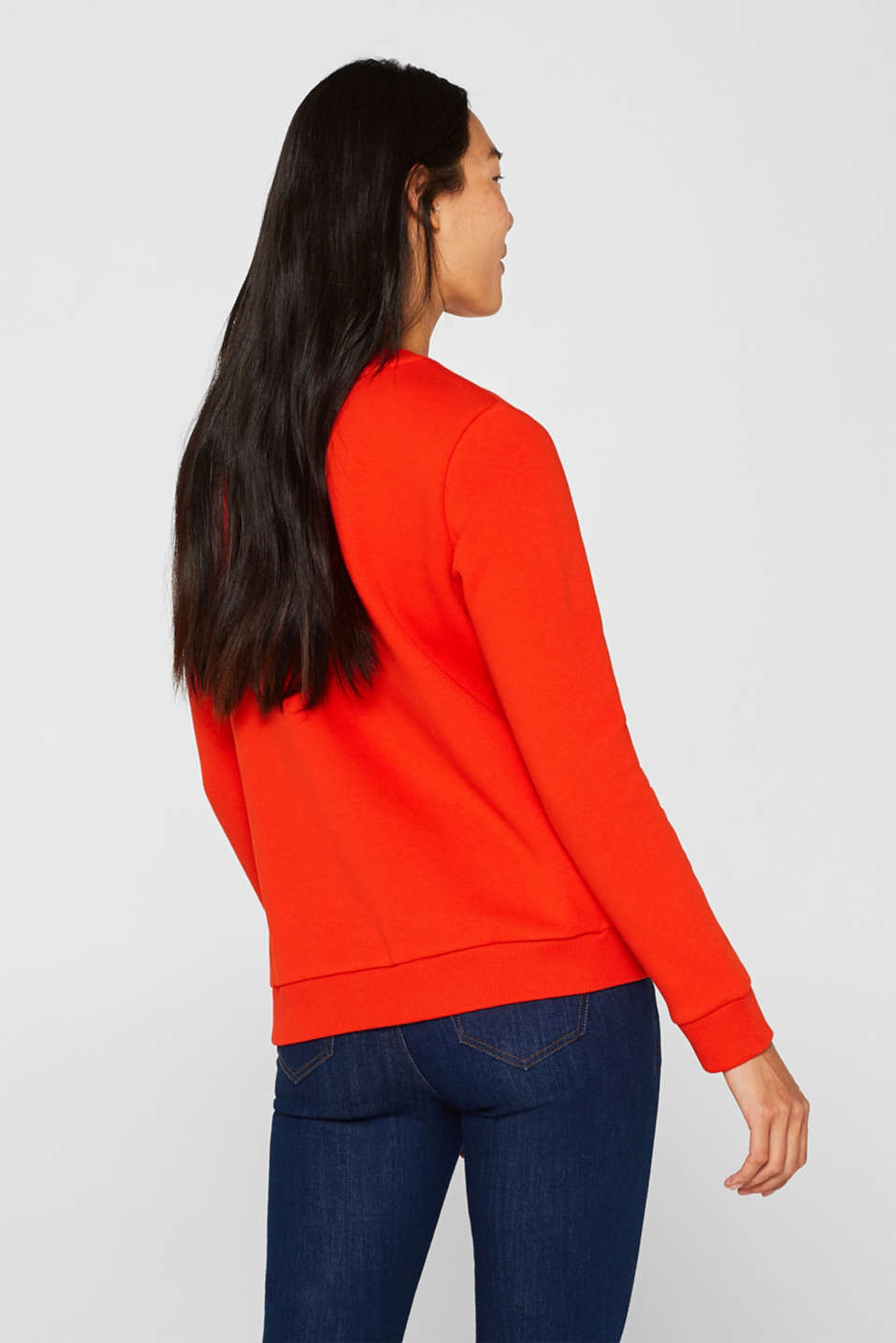 Sweatshirt with a logo print, RED, detail image number 3