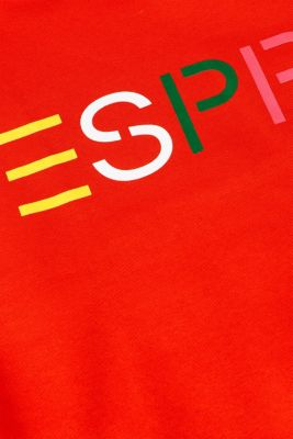Sweatshirt with a logo print, RED, detail