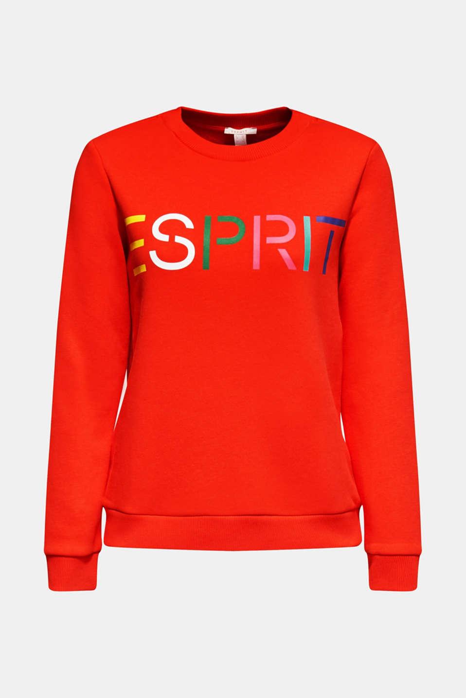 Sweatshirt with a logo print, RED, detail image number 6