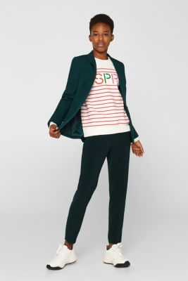 Striped sweatshirt with a logo print, RED, detail