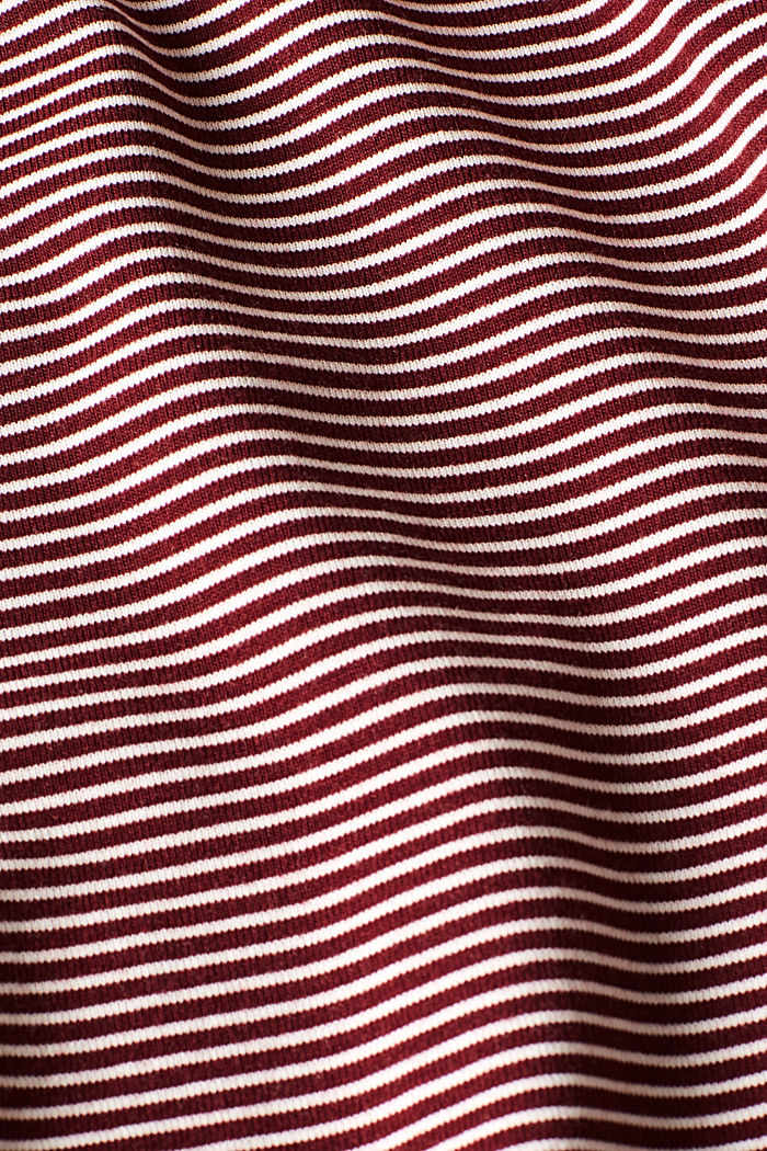 Stretch long sleeve polo neck top, GARNET RED, detail image number 4
